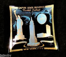 Vintage EMPIRE STATE BUILDING STATUE LIBERTY UNITED NATIONS NEW YORK ASHTRAY