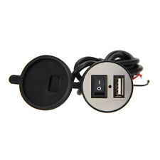1pc Waterproof USB Motorcycle Mobile Phone Power Supply Charger Port Socket