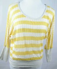 About a Girl Los Angeles Womens Size Medium yellow 3/4 sleeve shirt  NWT