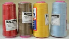 4 Spools QA 2000m Overlocker Thread, Sewing Thread, Assorted Colours, Free Post