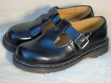 DR. Martens T-Strap Smooth Mary Jane Women SHOES Black UK size 8/US size 10