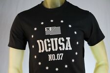 "DC SHOES MEN'S GRAPHIC BLACK T-SHIRT W/ WHITE ""DC"" LOGO ON FRONT size Small"