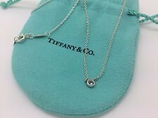 Tiffany & Co Sterling Silver Elsa Peretti Color By The Yard Aquamarine Necklace
