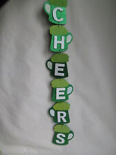 """26"""" Wooden St. Patrick's Day Wall Decor CHEERS - Beer Mugs,  New"""