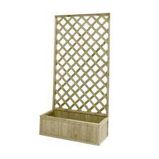 Traliccio con fioriera griglia in legno nordico decorazione giardino BD-NEW07500