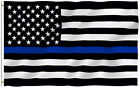 Thin Blue Line USA American Flag Police 3x5 Foot Law Enforcement Grommets Garden