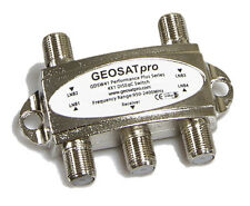 GEOSATpro 4x1 FTA Satellite Switch DiSEqC 2.0 Model GDSW41, 4x1 Switch