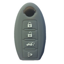 Gray Silicone SMART Remote KEY cover case fit for NISSAN Maxima Altima GT-R