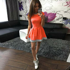 Womens Casual Sports Dress Bodycon Dress Skater Ladies Beach Party Mini Dresses
