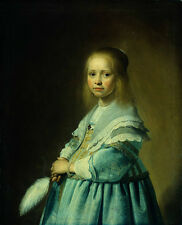 Oil painting Verspronck_Jan_Cornelisz_Portrait_of_a_Girl_Dressed_in_Blue canvas