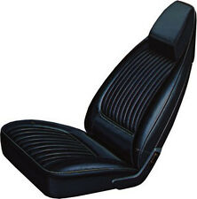 1970-71 Challenger SE R/T BLACK Front Bucket Seat Covers Coachman Grain Leather