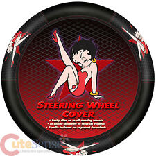Betty Boop Star Steering Wheel Cover Auto Car Accesory