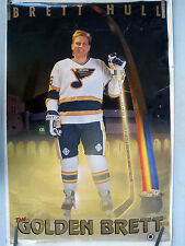 RARE BRETT HULL ST LOUIS BLUES 1991 VINTAGE ORIGINAL COSTACOS NHL HOCKEY POSTER