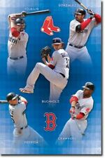 BASEBALL POSTER Boston Red Sox Collage MLB Pedroia