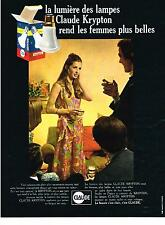 PUBLICITE  1969   KRYPTION     lampes ampoules CLAUDE