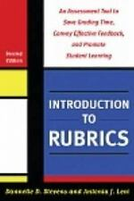 2012-10-08, Introduction to Rubrics: An Assessment Tool to Save Grading Time, Co