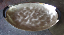 Vintage WMF-IKORA Thick Silver Plate Serving Tray Swirl Brushed Finish GERMANY