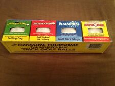 4 Classic Trick Golf Balls In A Gift Pack! Fun, Humor, Gag, Novelty, Holiday!