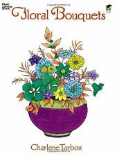 Relax Dover Coloring Book Flower Adult Kids Nature Beautiful Grownups Artistic .
