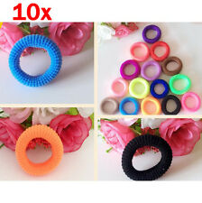 10Pcs Female Elastic Hair Ties Band Ropes Ring Ponytail Holder Accessories Hot#