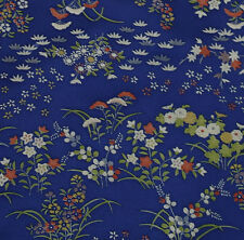 Japanese vintage kimono silk fabric Field of Flowers
