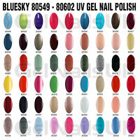 BLUESKY GEL NAIL POLISH UV LED SOAK OFF COLOUR 10ML TOP BASE FREE WRAPS