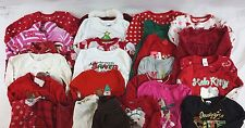 Lot of 29 Kids Girls Christmas Holiday Pajamas/Sweaters/Bodysuits 3T-4T BG12609
