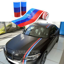 5.5M M-Colored Stripe Car Hood Roof Trunk Sticker Decal For BMW M3/5 3/5 Series