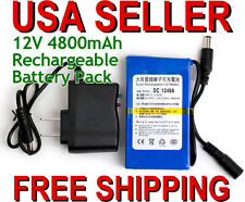 "Portable 12V DC 4800mAh Rechargeable Li-ion Battery CCTV B4 2/3"" lens AF100 GH2"