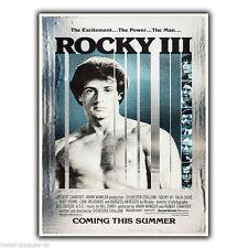 Rocky 3 III pelicula peli Pared De Metal Signo Placa cartel impresión Sylvester Stallone