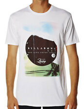 "BRAND NEW + TAGS BILLABONG MENS (XXL) ""SPILLS"" SURF T-SHIRT LOGO TEE WHITE"