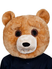 Adulte big tête teddy bear new fancy dress mascotte grizzly animal masque frais généraux