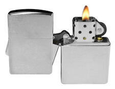Zippo Lighter 200 Brushed Chrome Windproof Classic Theme NEW