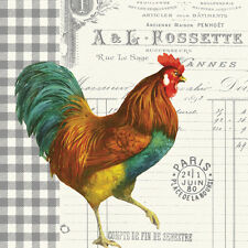 "Napkin/Luncheon - ""French Rooster""  - Art by Paula Scaletta, French Country Look"