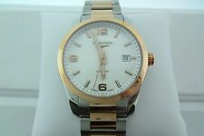 Longines 40MM Stainless Steel w/ Rose Gold Conquest Watch Retails @$4,100