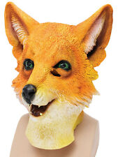 Adult Fox Wild Animal Overhead Rubber Mask Fantastic Mr Fox World Book Week Day