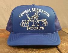 Brooklyn Central Substation Blue Trucker Snapback Adjustable Hat Cap - Vintage