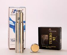 Manhattan 18650 Mechanical Mod, Stainless, Includes Turbo V2 RDA. Fast Shipping!