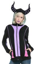 Disney Sleeping Beauty Maleficent Horns Cosplay Zip Hoodie Size Large NWT!