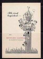 3w283/vecchia pubblicità con loghi di 1958-Synchro-Compur-il dispositivo di chiusura per la fotocamera