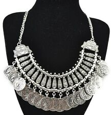New Arrival Bohemia Hot Fashion Gold Silver Plated Coin Tassel Charm Necklace