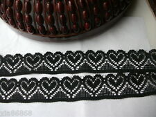 Stretch lace heart-shaped black 10 yards! DIY cloth clothing accessories!