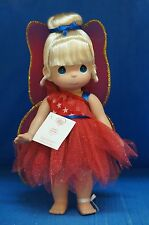 Tinker Bell Freedom Red Disney Parks July 4 2014 Precious Moments Doll Signed