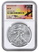 2016 American Silver Eagle NGC MS70 Exclusive Mercanti Signed ANA Label SKU42441