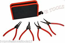 "NEW 4pcs Heavy Duty 7"" Circlip Plier Snap Ring Plier Kit"