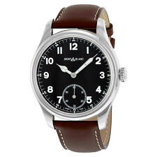 Montblanc Timewalker Automatic Black Dial Brown Leather Mens Watch 112638