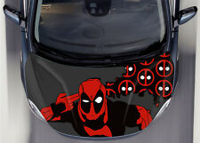 Dead Pool Car Hood Wrap Full Color Vinyl Sticker Decal Fit Any Car