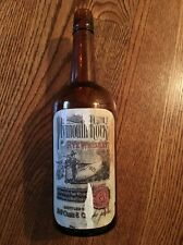 Rare Rye Whiskey Plymouth Rock Bottled By M-H Vibe & Co Chemically Pure Whiskey