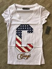 COOGI Women T-Shirt Flag Red White Blue C Size 1XL PLUS SIZE Retail $40
