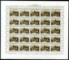 LIECHTENSTEIN 1949 284 ** POSTFRISCH im KLEINBOGEN RARITÄT 1000€++(Z9029c